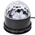 NEW-D18 Sound Activated 5W 48-LED RGB Crystal Magic / Sunflower light - Black + White