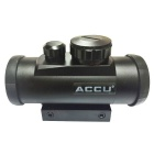 ACCU 1X 33mm Red / Green Dot Sight Rifle Scope - Black