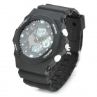 TVG KM391 Outdoor Sports Water Resistant Wrist Watch for Men - Black + White