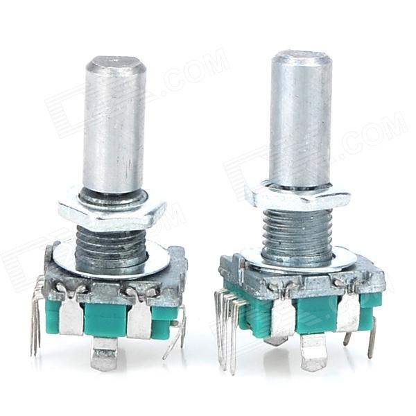 Rotary Encoder Dode Switch / EC11 / Audio Digital Potentiometer - Green + Silver (2 PCS) 5pcs 360 degree rotary encoder ec12 e12 audio encoder coding 3pin handle long 15mm