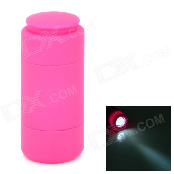 mini torch Waterproof Mini USB Rechargeable 2-Mode 1-LED White Light LED Flashlight - Dark Pink zpaa 2017 portable 3w cob led camping work inspection light lamp usb rechargeable pen light hand torch with usb cable