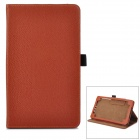 Lychee Grain Style Protective PU Leather Case for Google Nexus 7 II - Brown