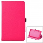 Lychee Grain Style Protective PU Leather Case for Google Nexus 7 II - Deep Pink
