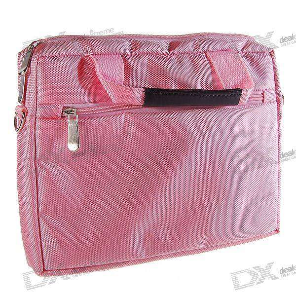 "Quality Nylon Carrying Bag with Shoulder Strap for 10.2"" Laptop (Pink)"
