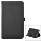 Lychee Grain Style Protective PU Leather Case for Google Nexus 7 II - Black