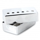 LP Electric Guitar Pickup Cover - White + Silver (Pair)