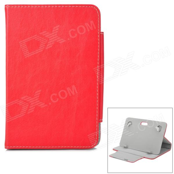 Universal Protective PU Leather Case for 7 Tablet PC - Red universal 61 key bluetooth keyboard w pu leather case for 7 8 tablet pc black