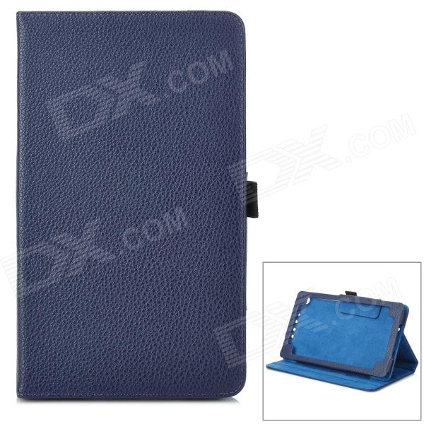 Lychee Grain Style Protective PU Leather Case for Google Nexus 7 II - Dark Blue bp a lychee grain style protective pu leather plastic case for google nexus 5 lg e980 black