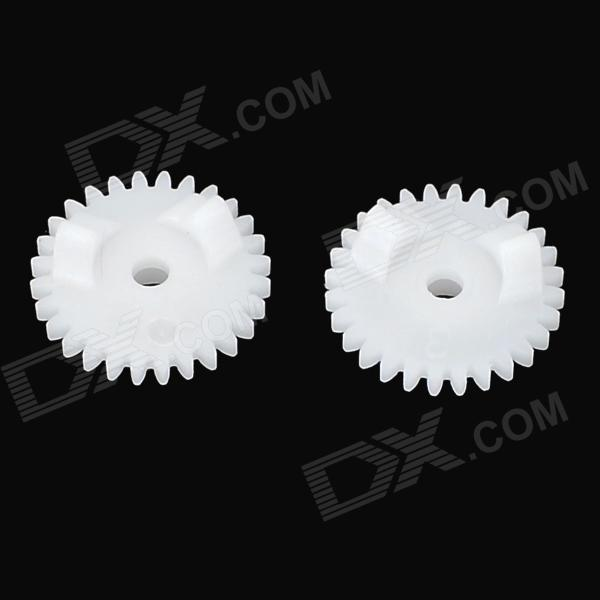 DIY 4D-5 D Style 4mm 0.5 Module Plastic Gear (2 PCS)