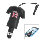 YF-23 No. 23 Jordan Sports T-shirt Style Stylus + 3.5mm Anti-dust Plug for Iphone / Samsung + More