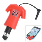 YF-23 23 Jordan Sports T-shirt Style Stylus + 3.5mm Anti-dust Plug for Iphone / Samsung / HTC + More