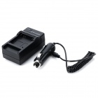 Battery Charger + Car Charger for AHDBT-201 / 301 GoPro Hero 3/3+ - Black (US Plugss / 100~240V)