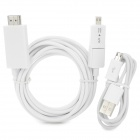JAB-3A MHL Micro USB 5Pin / 11Pin to HDMI Cable + 1080p HD AV Cable for Samsung / HTC (300cm / 90cm)