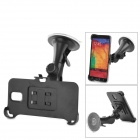 Car Mount Suction Cup Holder Stand w/ Bracket for Samsung Note 3 N9006 - Black
