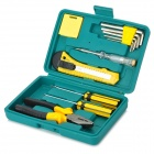Professional 12-in-1 Car Repair Tools Kit - Black + Yellow + Multicolored