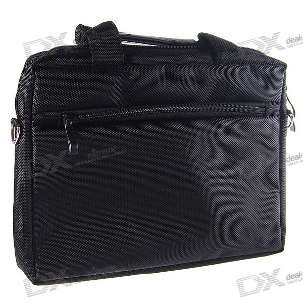 "Quality Nylon Carrying Bag with Shoulder Strap for 10.2"" Laptop (Black)"