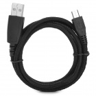 USB 2.0 Male to Micro USB Male Charging Sync Data Transmission Cable - Black (100cm)
