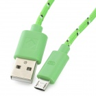 Micro USB to USB Data Charging Cable for LG Nexus 5 More - Green (2m)