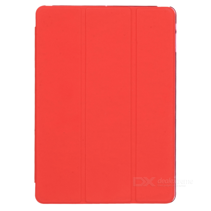 Virar Protective Abrir Trina Caso Wake-up / Sono PU + plástico para Ipad AIR - Red