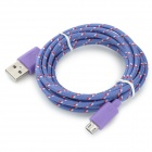 Micro USB to USB Data Charging Cable for LG Nexus 5 More -Purple (2m)