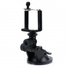 Camera Adapter + Mobile Phone Clip + Car Suction Cup for Gopro1/2/3 / Samsung / HTC - Black