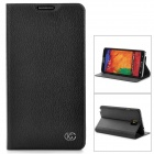 KUCHI A2 Protective Flip Open Cow Leather + PU Case for Samsung Note 3 - Black