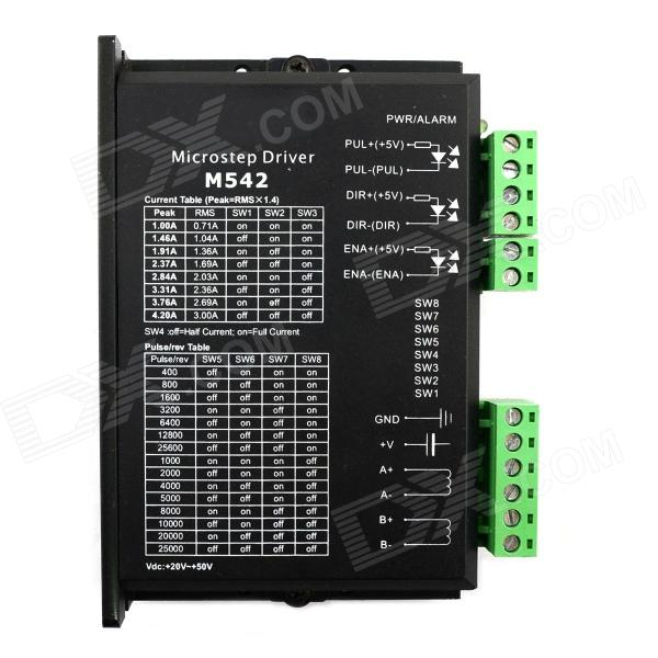 Jtron M542V 42/57-Type dos fases Stepper Motor Driver - Negro