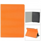 Schutz Flip Open PU + Plastic Wake-up / Sleep-Fall w / Ständer für ipad AIR - Orange