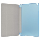 Protective Flip Open Three-fold PU + Plastic Wake-up / Sleep Case for Ipad AIR - Blue