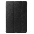 Protective PU + Plastic Flip Open Three-fold Back Case for Ipad AIR - Black