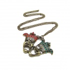 Fashion Double Head Necklace - Multicolor