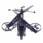 JUNHENG J6683-2 4-Channel I/R Remote Control Helicopter Model - Dark Grey + Black