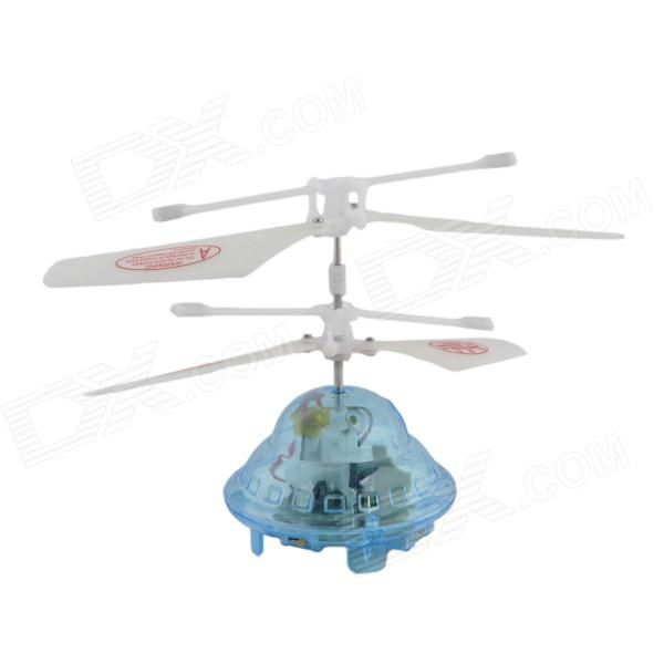 YZ-L Mini 2-CH LED Radio Control R/C Flying Saucer - White + Blue