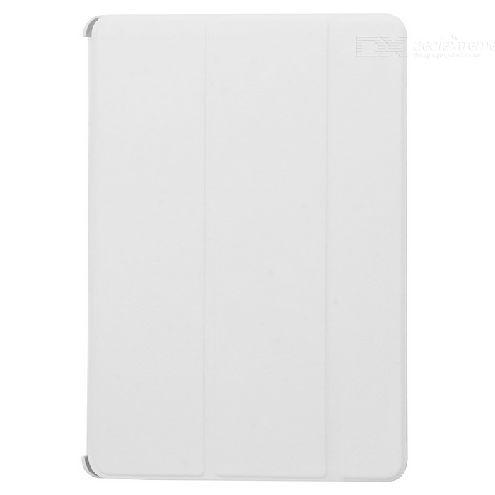 Protective PU + Plastic Flip Open Three-fold Back Case w/ Auto Sleep for Ipad AIR - White