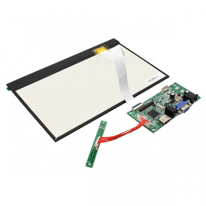 10.1 Digital Screen+Drive Board for Raspberry Pi, Pcduino, CubieboardRaspberry Pi<br>BrandN/AModelN/AQuantity1 pieceForm  ColorBlackMaterialElectronic ComponentsEnglish Manual / SpecNoDownload Link   http://m5.img.dxcdn.com/CDDriver/CD/sku.275804.pdfOther FeaturesPower input: DC 12V, 2A, 6~7W;<br>Signal input, 2 AV + VGA + HDMI (HDMI 1.1);<br>Physical Resolution: 1280 * 800;<br>Resolution Range: 640 x 480 ~ 1600 x 1200 (adjustable)<br>Plug and play;<br>Language support: Chinese (simple), Chinese (traditional), English, Japanese, Korea, Spanish, French, German, Italian, Portuguese;<br>Control, OSD;<br>Dimension 228 x 149 x 3 (mm);<br>Panel type, TFT;<br>Contrast: 600:1;<br>Brightness: 350cd/m2;<br>Background light: LED;<br>Interface: 40 pin LVD;Packing List1 x IPS screen1 x Drive board (2 x 24cm cable)<br>