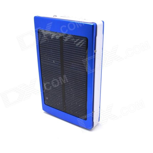 "Universal dual USB Output ""13800mAh"" Powered Energía Solar Power Bank - azul + blanco"