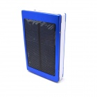 "Universal Dual USB Output ""13800mAh"" Solar Energy Powered Power Bank - Blue + White"