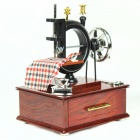 C-Type Sewing Machine Style Music Box - Brown + Black