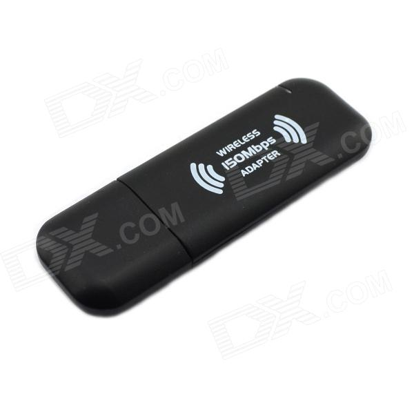 Jtron USB Wireless Card 150Mbps IEEE 802.11n/b/g RT3070 Wi-Fi Module - Black