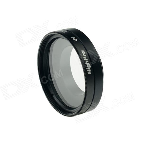 Highpro 37mm lente UV w / cap para gopro hero 4/3 / 3+ - negro