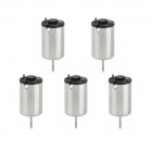 Jtron 4.5V 24000 RPM Coreless DC Motor - Silver (5 PCS)