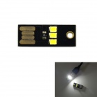 exLED Ultrathin USB 2.0 0.2W 22lm Single Sided White 3-LED Light Lamp for PC / Laptop / Power Bank