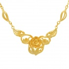 Buy KCCHSTAR Fine Copper Electroplating 24K Gold Flower Shape Pendan Necklace