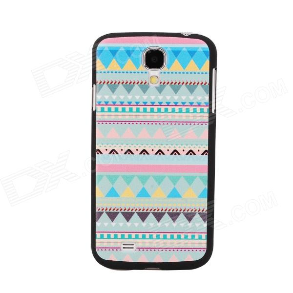 Elonbo J4B Dimensional Relief Tribal Ethnic Style PC Back Case for Samsung Galaxy S4 - Multicolored relief icona b mater