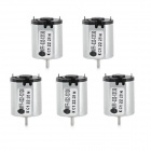 Jtron 4.5V Micro DC Toy Motor - Silver (5 PCS)