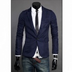 England Style Slim Fit Suit - Deep Blue (Size XL)
