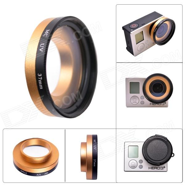Fat Cat Professional High Transmittance 37mm FPV Protective MC UV Lens for Gopro Hero 4/3+ / Hero3