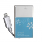 3-in-1 TF / SD Card Reader + 1-Port USB 2.0 HUB for OTG Cellphone - White + Blue (Max. 64GB)