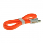 REMAX Flat USB 2.0 Male to Micro USB Male Data Sync / Charging Cable for Samsung - Orange (90cm)