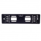 XY-1650 Car License Plate Rearview Camera w/ 4-LED Night Vision for Europe - Black